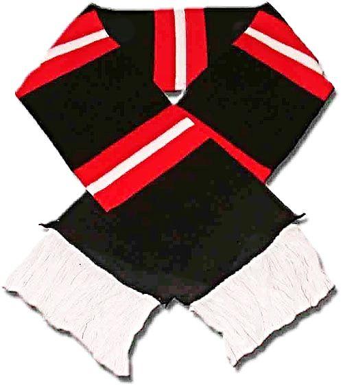 Retro Knitted Black Bar Scarf