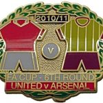 United v Arsenal FA Cup Match Metal Badge…
