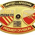 United v Arsenal Premier Match Metal Badge…