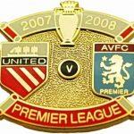 United v Aston Villa Premier Match Metal Badge…
