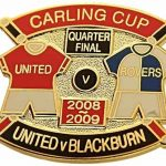 United v Blackburn Carling Cup QF Match Metal…