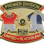 United v Blackburn Premier Match Metal Badge…