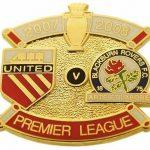 United v Blackburn Premier Match Metal Badge 2007…