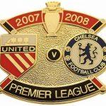 United v Chelsea Premier Match Metal Badge 2007…