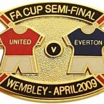 United v Everton FA Cup Match Metal Badge…