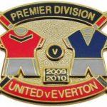 United v Everton Premier Match Metal Badge…