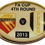 United v Fulham FA Cup Match Badge 2012-2013 White