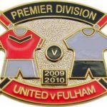 United v Fulham Premier Match Metal Badge…