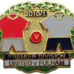 United v Fulham Premier Match Metal LL Badge…