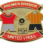 United v Hull Premier Match Metal Badge 2009-2010