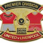 United v Liverpool Premier Match Metal Badge…