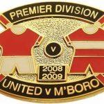 United v Boro Premier Match Metal Badge…