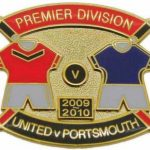 United v Portsmouth Premier Match Metal Badge…