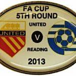 United v Reading FA Cup Match Badge 2012-2013…