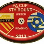 United v Reading FA Cup Match Badge 2012-2013 Red