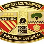 United v Southampton Premier Match Metal Badge…