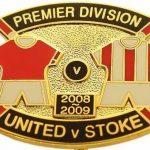 United v Stoke Premier Match Metal Badge 2008…