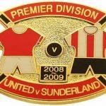 United v Sunderland Premier Match Metal Badge 2008…