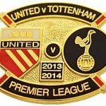 United v Tottenham Premier Match Metal Badge…
