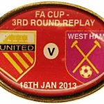 United v West Ham Replay FA Cup Match Badge… (1)