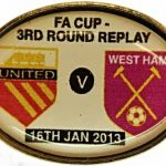 United v West Ham Replay FA Cup Match Badge…