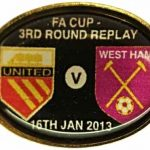 United v West Ham Replay FA Cup Match Badge… (2)
