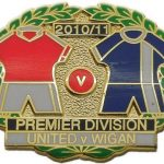 United v Wigan Premier Match Metal LL Badge…