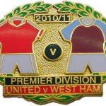 YES United v West Ham Premier Match Metal LL Badge…
